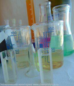 определение нефтепродуктов в сточных водах