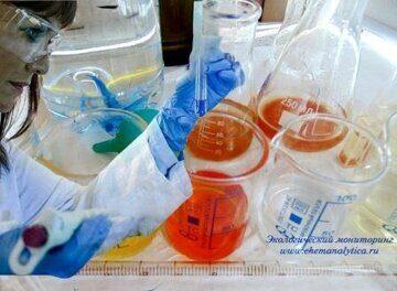 Химический анализ сточных вод, определение больших количеств меди титриметрическим методом