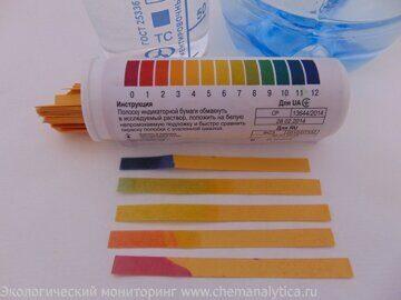 шкала pH,лаборатория